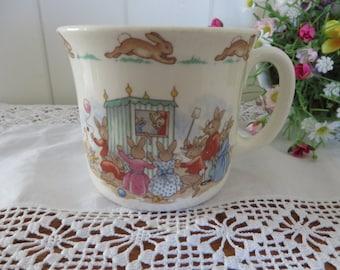 Bunnykins vintage 1980's Punch and Judy show mug