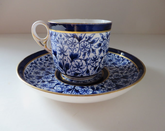 Featured listing image: Crown Derby 1880's Derby Lily  teacup and saucer