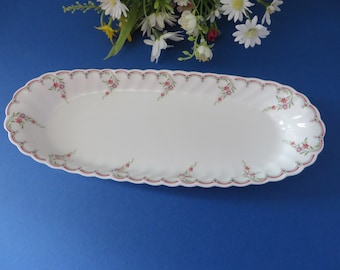Wedgwood vintage 1980's Pink Garland mint dish