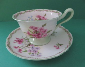 Shelley vintage 1950's Apple Blossom demitasse cup and saucer