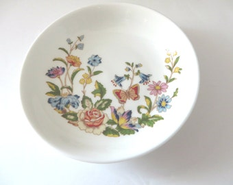 Aynsley vintage 1970's Cottage Garden  ring dish