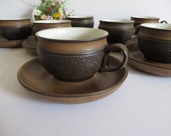 Denby vintage 1970's Cotswolds teacup and saucer