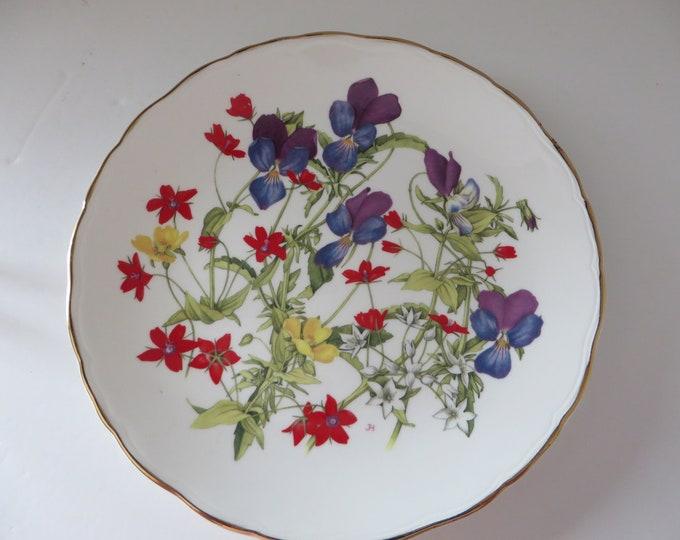 Featured listing image: Royal Albert vintage 1980's Grassland Pansies plate
