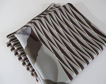 Jago vintage 1980's brown, green and grey scarf