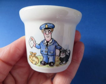 Crown Staffordshire Postman Pat vintage 1980's egg cup