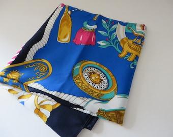 Vintage 1990' Blue nautical scarf