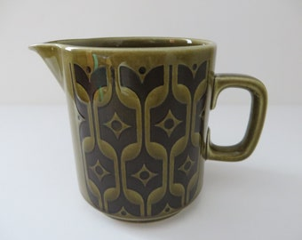 Hornsea vintage 1970's Green Heirloom milk jug