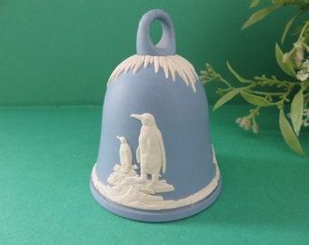 Wedgwood Jasperware pale blue vintage 1970's bell