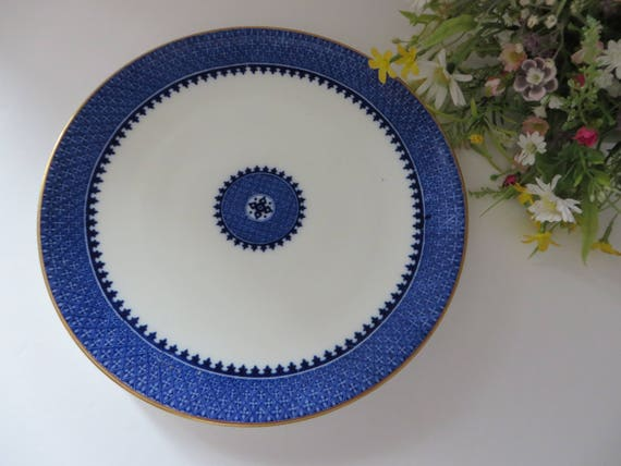 Antique Wedgwood 1900's blue and white plate