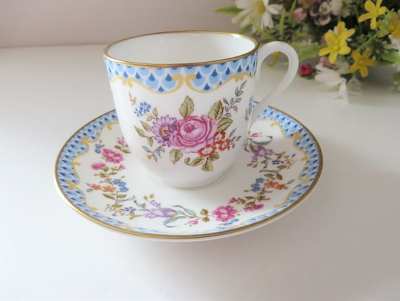 Royal Worcester vintage 1990's Amelia coffee cup and saucer
