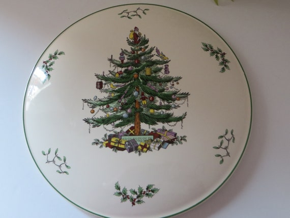 Spode vintage Christmas tree cake plate