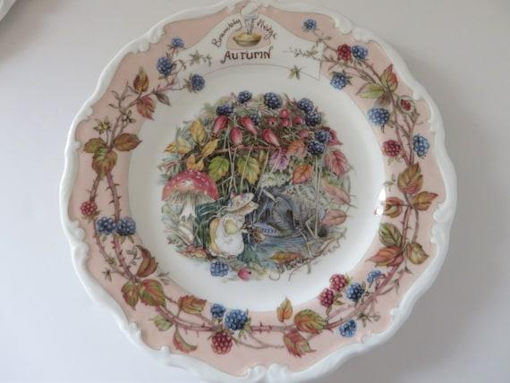 Brambly Hedge vintage 1980's  Autumn vintage plate