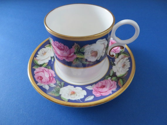 Worcester vintage 1990's Chamberlain Roses coffee cup and saucer