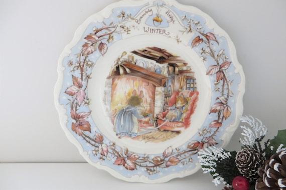 Brambly Hedge Winter vintage 1980's plate
