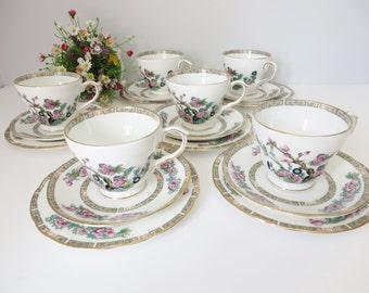 Duchess vintage 1960's Indian tree tea trio, Afternoon tea, Duchess china, Indian tree pattern