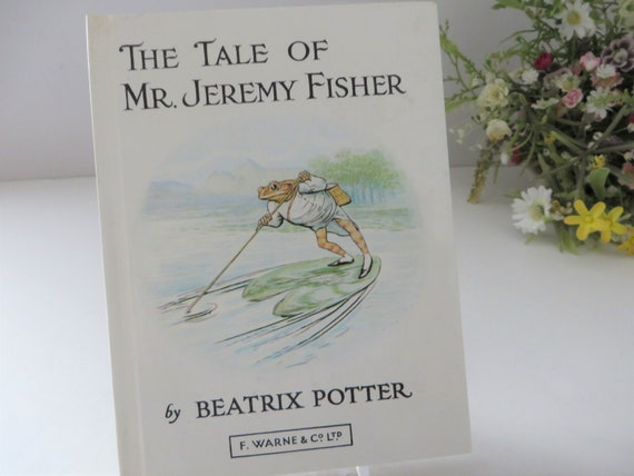 Beatrix Potter 1982 Tale of Jeremy Fisher  vintage  book