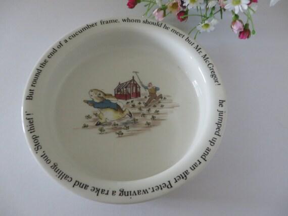 Beatrix Potter vintage 1990's Peter Rabbit Porringer