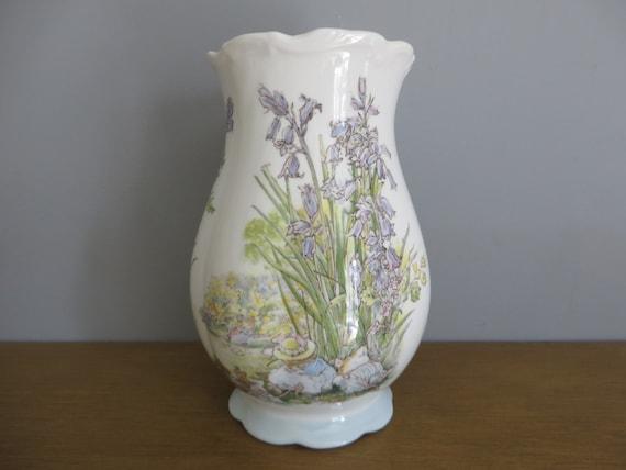 Brambly Hedge mice 1980's vintage vase