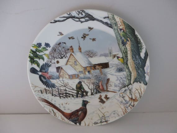 Wedgwood 1990's vintage The Woodsman wall plate