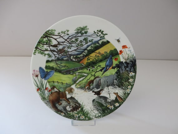 Wedgwood vintage 1980's The Babbling Brook plate