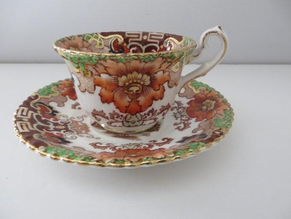 Samuel Radford 1890's Imari pattern small coffee cup and saucer