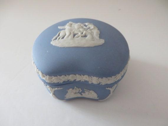 Wedgwood vintage 1980's pale blue  trinket box