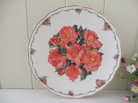 Royal Albert vintage 1990 Royal orange Rose collectible plate