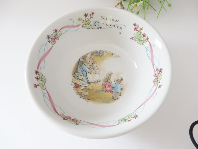 Bright Wedgwood Peter Rabbit Christening Set Bowl/cup/plate/money Box Pottery & Glass Pottery & China