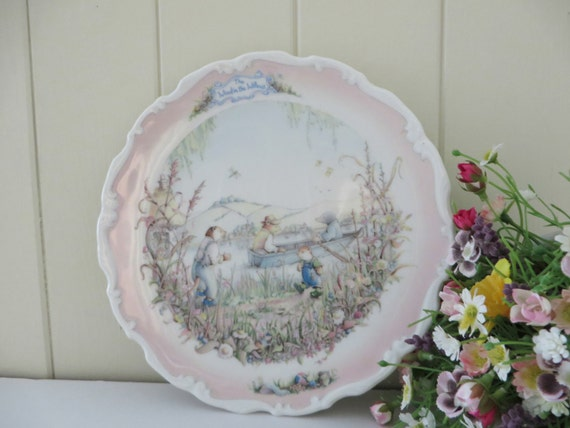 Wind in the Willows Portly's Return vintage plate