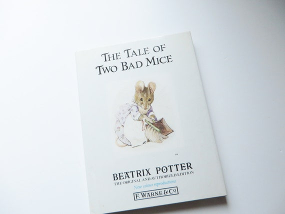 Beatrix Potter 1987 The Tale of two bad mice vintage book