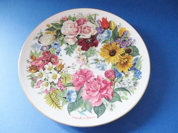 German vintage floral Grand Finale 89 collectible plate