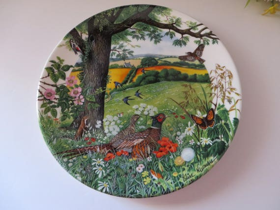 Wedgwood vintage 1980's Meadows and Wheatfields plate