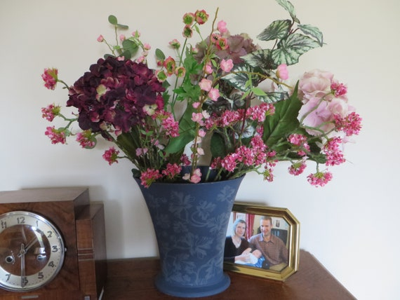 Wedgwood interiors large blue floral vase