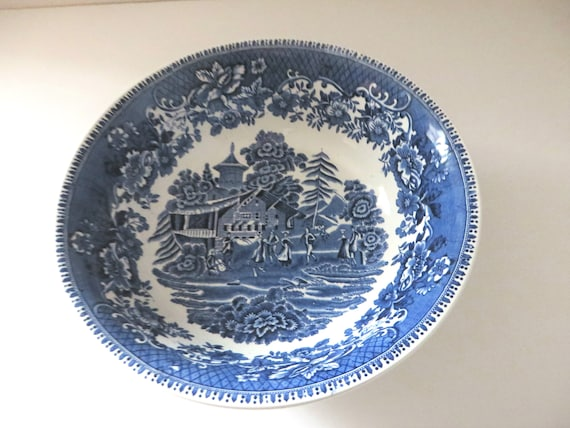 Wedgwood vintage 1950's blue Avon Cottage bowl