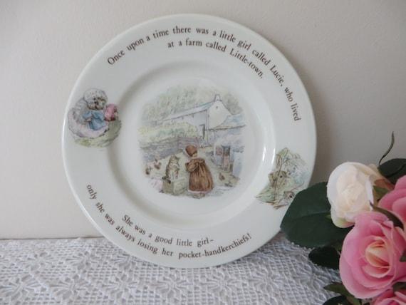 Beatrix Potter vintage 1990's tea plate, Mrs Tiggy Winkle