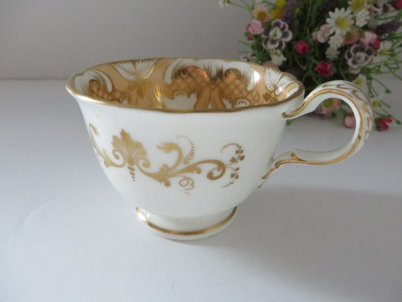 Antique 1900's gilded floral  coffee cup
