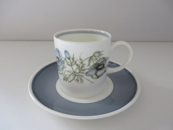 Susie Cooper Glenmist vintage 1980's  coffee cup and saucer