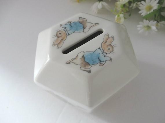Beatrix Potter vintage Peter Rabbit money box