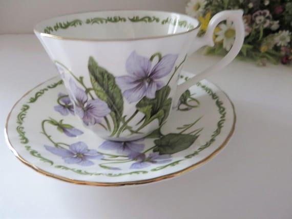 Royal Kendal vintage 1980's floral teacup and saucer