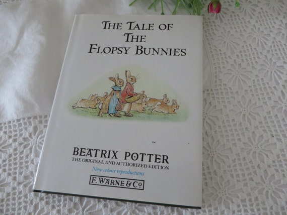 Beatrix Potter 1989 Tale of the Flopsy bunnies vintage book