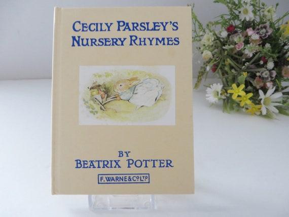 Beatrix Potter  Cecily Parsley's Nursery Rhymes 1981 vintage book