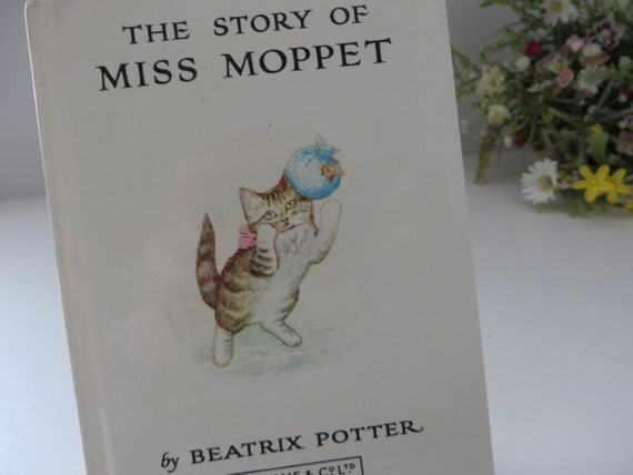 Beatrix Potter 1984 the story of Miss Moppet vintage book