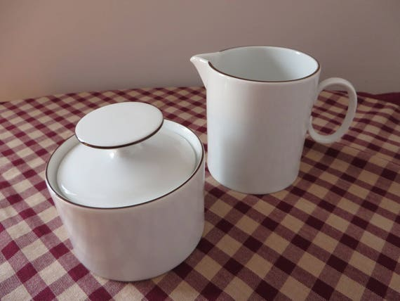 Thomas 1970's vintage  white creamer set
