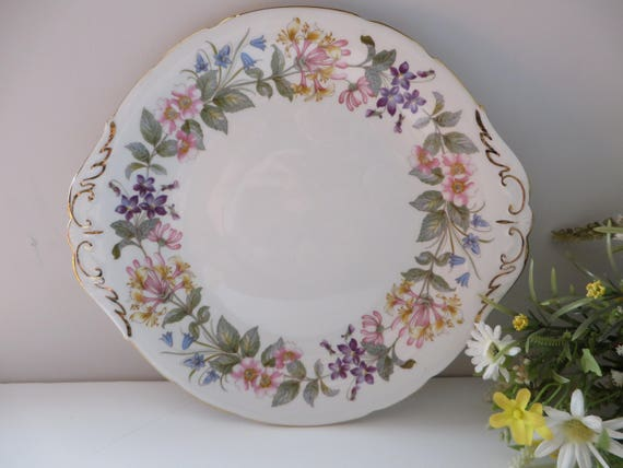 Paragon vintage 1960s Country Lane cake plate