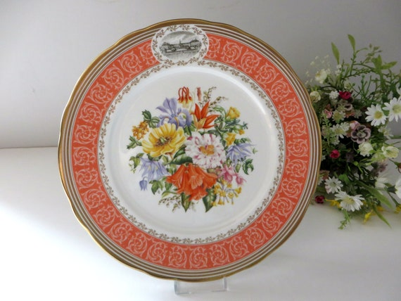 Royal Horticultural Society Chelsea Flower show  vintage 1990's plate
