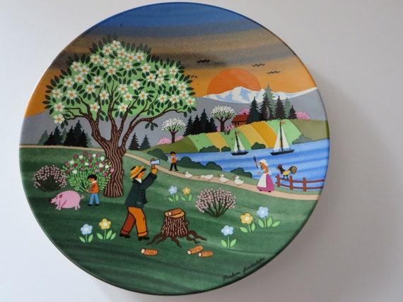 Barbara Furstenhofer  vintage 1980's spring plate