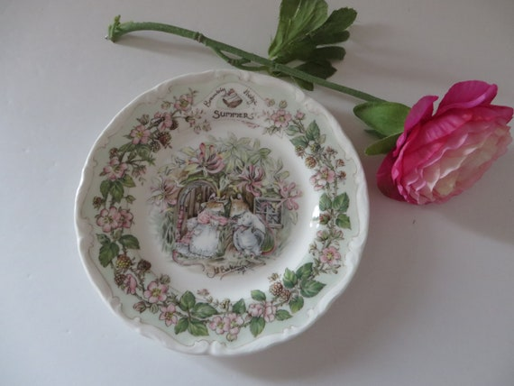 Brambly Hedge Summer vintage 1980's 6 inch plate