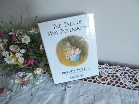 Beatrix Potter 1987 Tale of Mrs Tittlemouse  vintage book