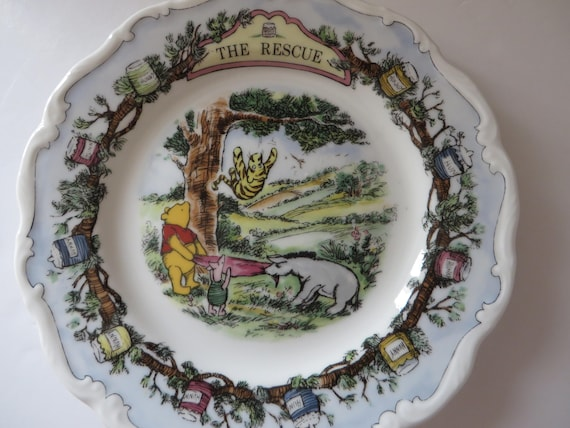 Vintage Winnie the Pooh The Rescue 1980's plate