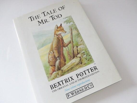 Beatrix Potter 1991 Tale of Mr Tod vintage book